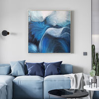 Framed painting blue art Modern abstract paintings on canvas original art wall pictures wall decor cuadros abstracto $169.00