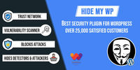 Hide My WP is number one security plugin for WordPress. Hide My WP helps you block brute force and malicious attacks from accessing WordPress. It also notify you when someone try to breach your WordPress Security. It also block direct access to PHP files.