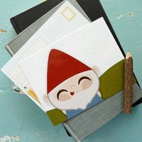 Garden Gnome Postcard Pack by Ashley Giessing, via Behance