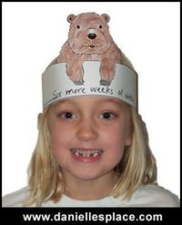 Groundhog Day Craft - Groundhog Hat Craft for Kids from www.daniellesplace.com