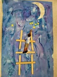 """Art for Eric Carle's *Papa, Please Get the Moon for Me"""""""