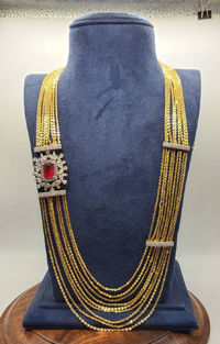 multi layer chain With American Diamonds side brooch and earrings $207.00