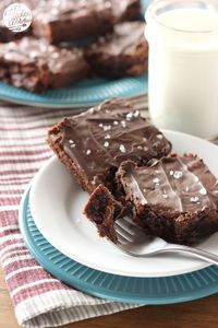 Salted Dulce de Leche Brownies from