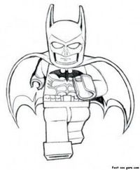Print Out The Avengers Lego Batman Coloring Pages