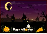 Funny halloween background hd image