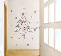 Beautiful Christmas Tree Wall Sticker