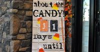 It's all about the candy Halloween count down How could you see this and not fall in love? Check out how cute her front porch count down is! Laura over at Corne
