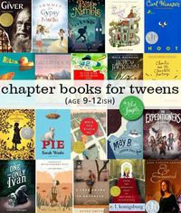 20 chapter books for tweens (around ages 9-12); perfect for a summer reading list.