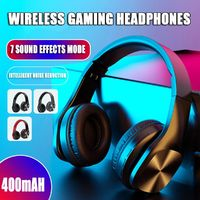 bluetooth 5.0 Headphone 2.1 Stereo Sound Wireless Noise Cancelling Foldable Gaming Earphone