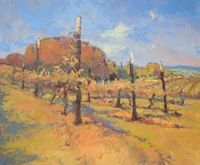 �€œHillside Vineyard�€ ~ 30�€ x 36�€ Oil Artist: Gene Costanza - Eugene, OR