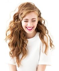 curls and bobbi pins hairstyle