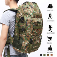 65L Outdoor Military Rucksacks Tactical Bag Camping Hiking Trekking Backpack