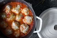 Prior to November, what I knew of stuffed cabbage rolls were limited to the Jewish/Eastern European variety, which I make the way my mother-in-law does. I hadn't given it further thought beca�€�