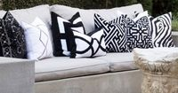 Panel Black Lounge Throw Pillow. #laylagrayce