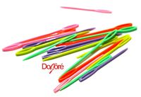 Pack of 20 Assorted Colours Plastic Sewing Needles. Different Sizes. Dress Maker Tool £3.39