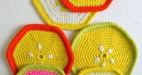 Super Soft Merino Fruity Trivets + PotHolders - The Purl Bee - Knitting Crochet Sewing Embroidery Crafts Patterns and Ideas!