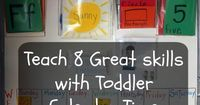 Toddler calendar time - an easy way to daily reinforce what they are learning with you!