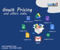 GSuite Pricing India, Google apps for business costs, and comparison, Know how gsuite pricing works get a detailed overview of what you are paying for. https://leadnxt.com/gsuite-pricing-india-offers/