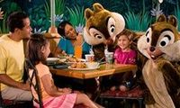 Garden Grill, The Land, Epcot. Character Dinner here with Mickey, Pluto, Chip and Dale.