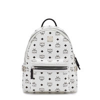 MCM Small Stark Side Odeon Studs Backpack In White