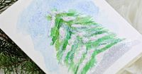 Painting a Simple Snowy Pine With Watercolors | eHow Crafts
