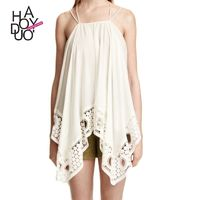 Vogue Sexy Holiday Split Front Lace Summer Sleeveless Top Strappy Top - Bonny YZOZO Boutique Store