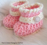 Cute Baby Boots ~ free pattern
