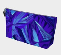Blue Fractals Makeup Bag $25.00