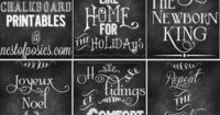 Nest of Posies: 5 Free Christmas Chalkboard Printables to Deck your Halls!