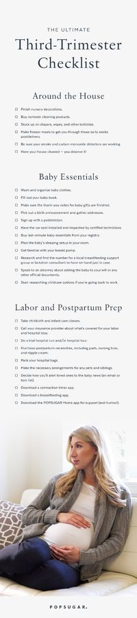 Whether you're in the middle of your first pregnancy or you just need a refresher on the necessary prebaby tasks before welcoming another child, this