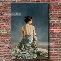 Hand Painted Nude People Portrait On Canvas Oil Painting
