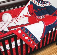 crib bedding baseball | 4pc MLB St Louis Cardinals Crib Bedding Set Baseball Baby Quilt Sheets ...