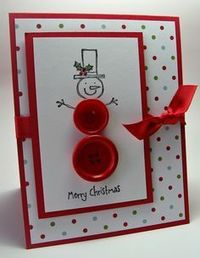 christmas card - I would use white buttons