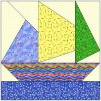 Paper Piercing quilt patterns | ALL STITCHES - SAILING PAPER PIECING QUILT BLOCK PATTERN .PDF -059A