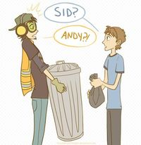 Old Neighbors (Andy and Sid from Toy Story)