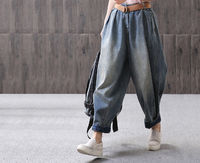 90S Retro Big Size High Waist Casual Jeans,Long Loose Jeans,Handmade Maxi Jeans,Women's Pants,Women's Gifts,Christmas gifts,High Rise Jeans $58.00