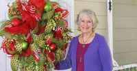 """Nancy just filmed a brand new video on """"How to Make a Deco Mesh Wreath""""! It is so easy -- Nancy guarantees that you will be able to make a beautiful wreath also! Downloadable / Viewable Video Price is $29.97 http://www.LadybugWreaths.com"""