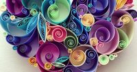 Quilled Heart by Sena Runa: Beautiful Quilled pieces on the webpage!!