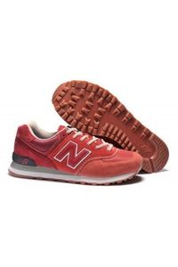New Balance 574 Women Shoes Mesh Red