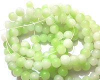 Pack of 120 Round Green and White 6mm Glass Beads. Duo Colour Mini Spacers £8.99