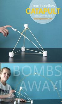 Teach your kids how to make their very own marshmallow launcher using common household supplies. How to construct a marshmallow catapult.