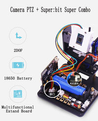 Yahboom 2DOF HD Camera PTZ APP Control 180° Rotation RC Robot Kit With Servos For Micro:bit