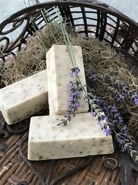 Lavender, Oatmeal and Raspberry Seed Homemade Soap $4.00