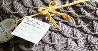 Cable Knit baby blanket (for boys?)