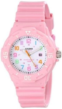 Casio Women's LRW-200H-4B2VCF Pink Stainless Steel Watch with Resin Band $70.90