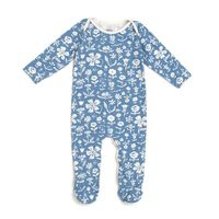 Footed Romper - In the Garden Blue - Winter Water Factory $44
