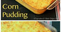 Corn Pudding is a simple comfort food side dish worthy of any holiday meal.
