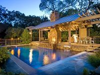 HGTV has inspirational pictures of beautiful outdoor kitchens featuring gas grills, islands, cooking centers and more.