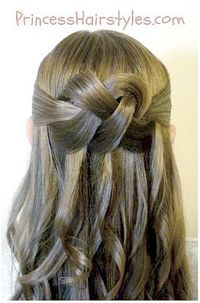 Woven Knot Hair Tutorial by Princess Hairstyles - great for weddings, prom, etc.! Love this!!