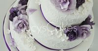 colors. purple wedding cakes | purple and lilac rose wedding cake | Flickr - Photo Sharing!